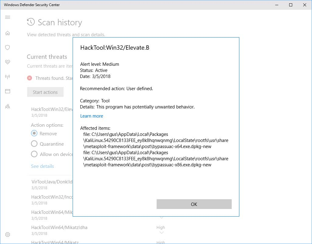 Windows Defender Detecting MetaSploit