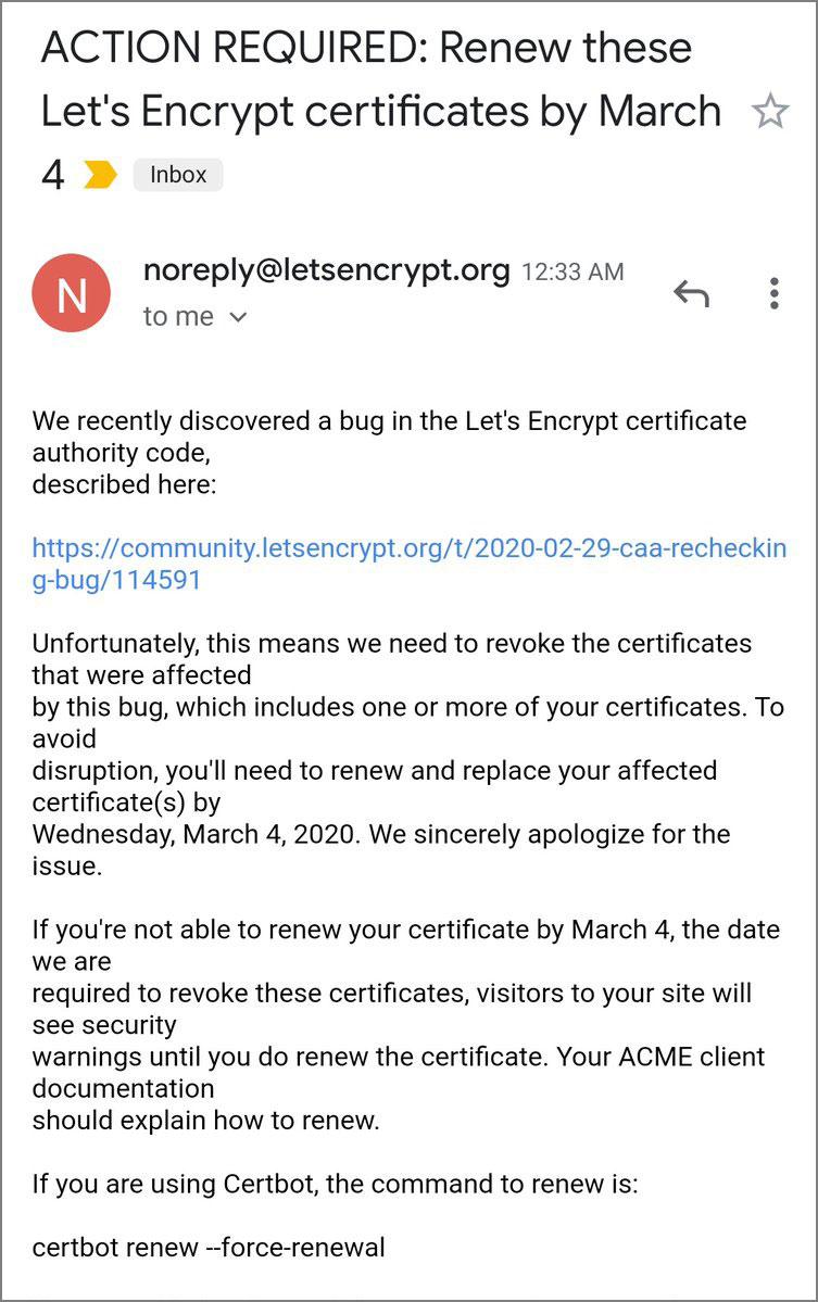 Etkilenen kullanıcılara gönderilen e-posta