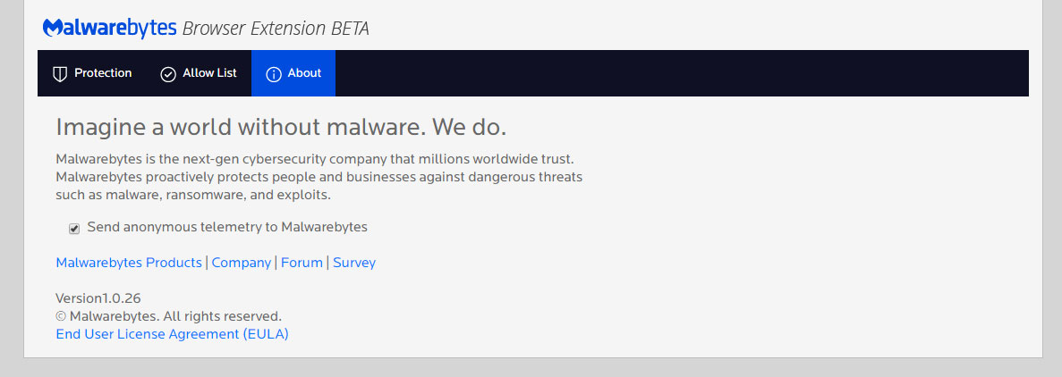 telemetry-enabled Malwarebytes Browser Extension Blocks Malware, Scams, Ads, & Trackers