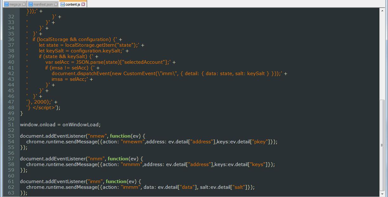 Extension's manifest.js