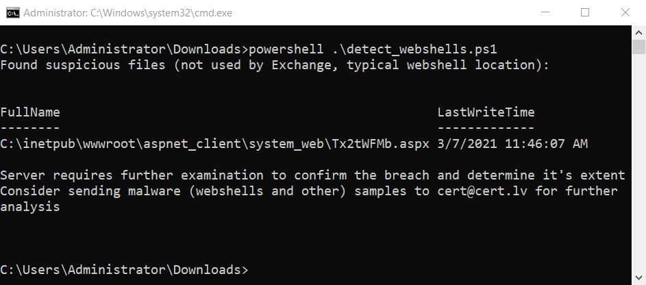 用于查找Web Shell的detect_webshel​​ls.ps1