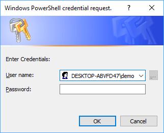 Default Get-credentials Prompt