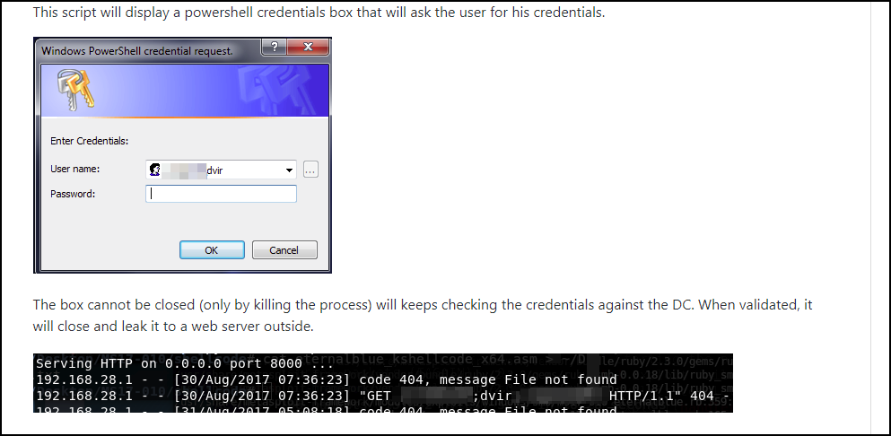 PSA: Beware of Windows PowerShell Credential Request Prompts
