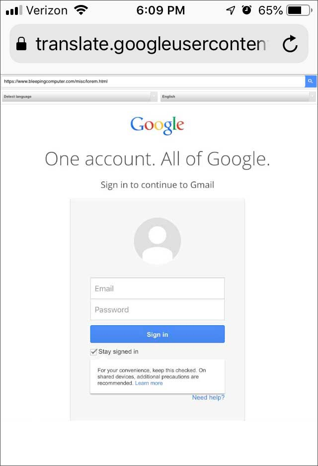 New Phishing Attack Uses Google Translate as Camouflage