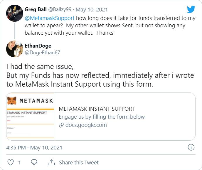 Twitter MetaMask phishing scam