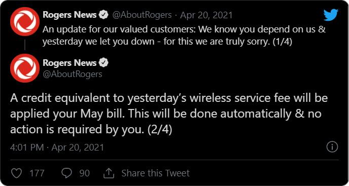 Rogers tweet