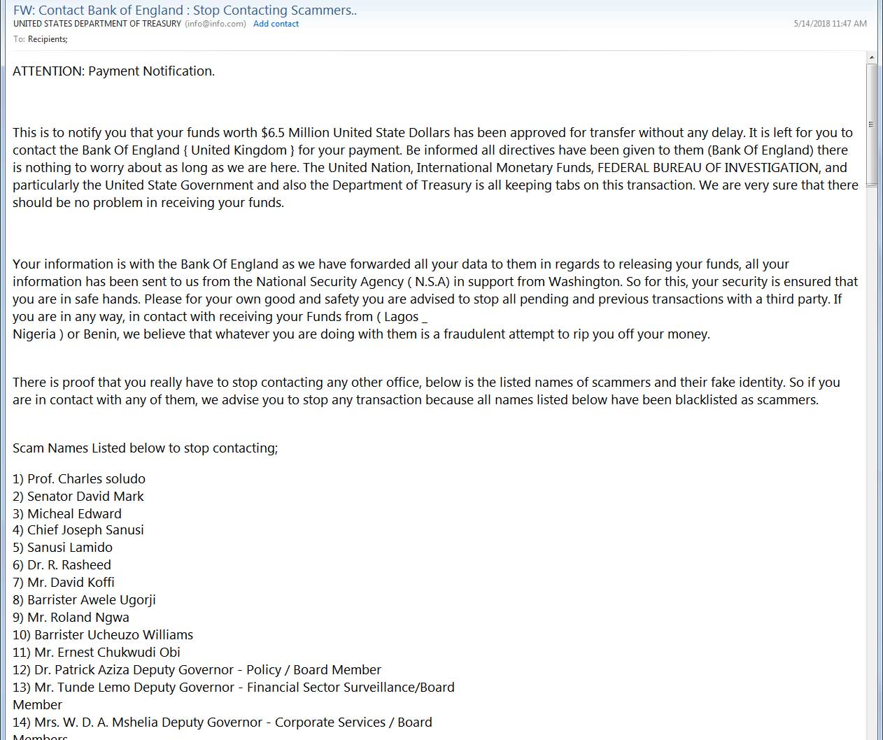 Phishing Scam Part 1