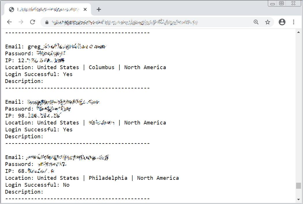 Stolen login credentials