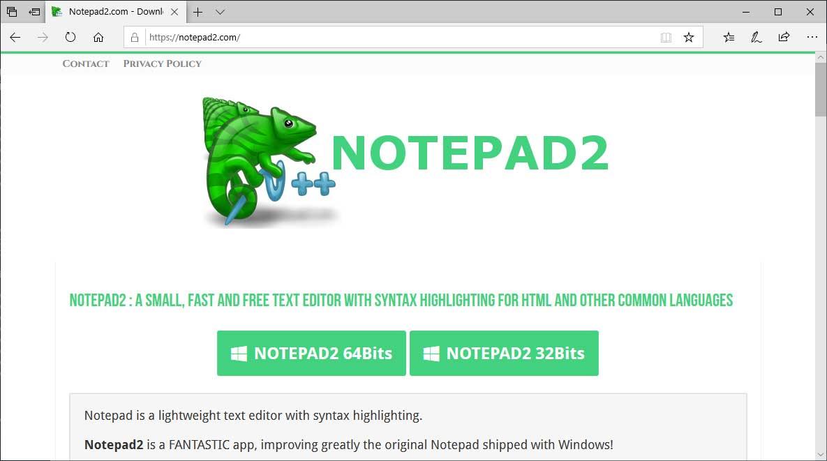 Notepad2.com Site