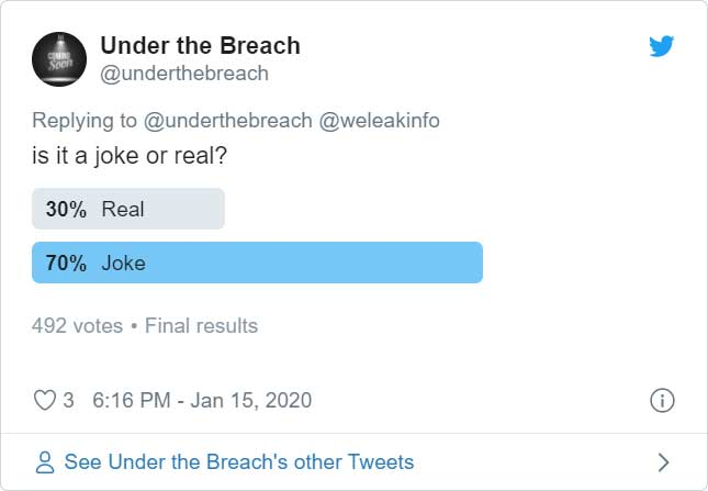 Voting on whether it was a prank
