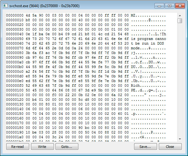 Injected DLL into svchost.exe