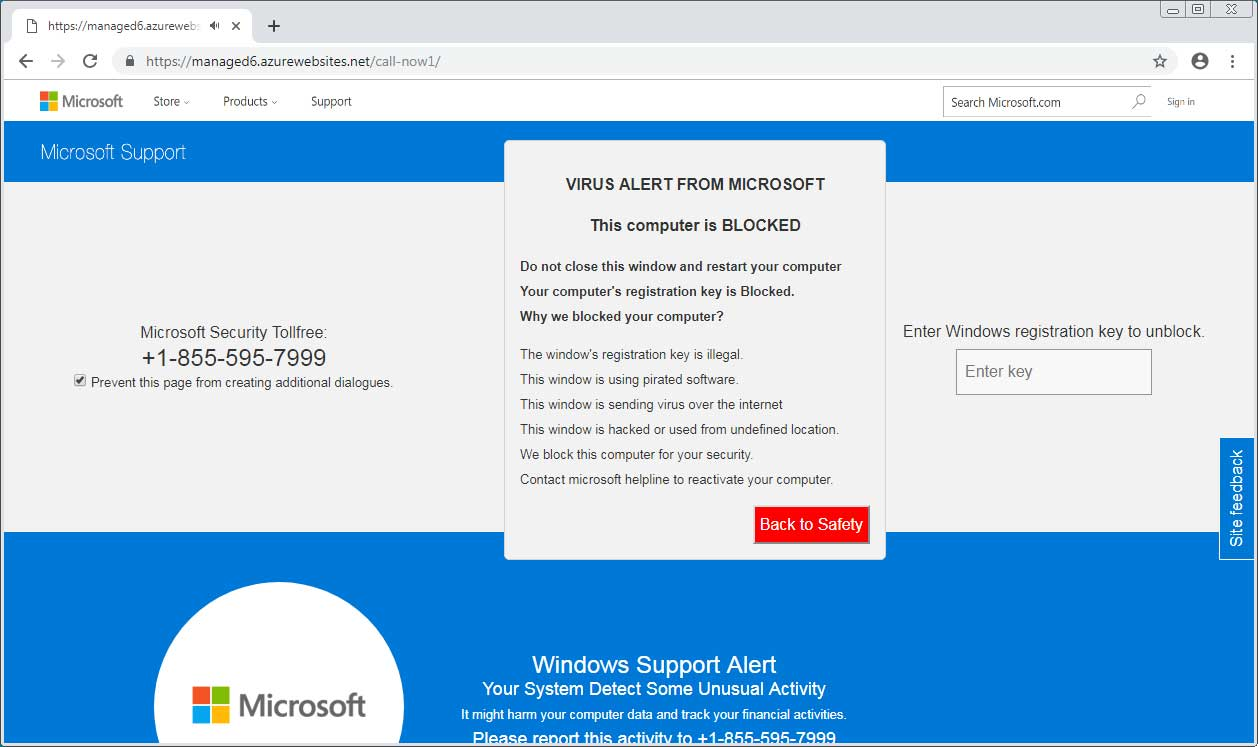 Microsoft Tech Support Scam 1