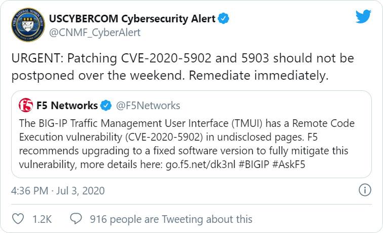 US Cyber Command tweet