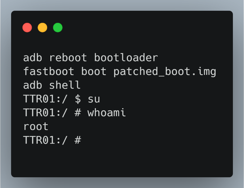 Gaining root access via the modified boot image