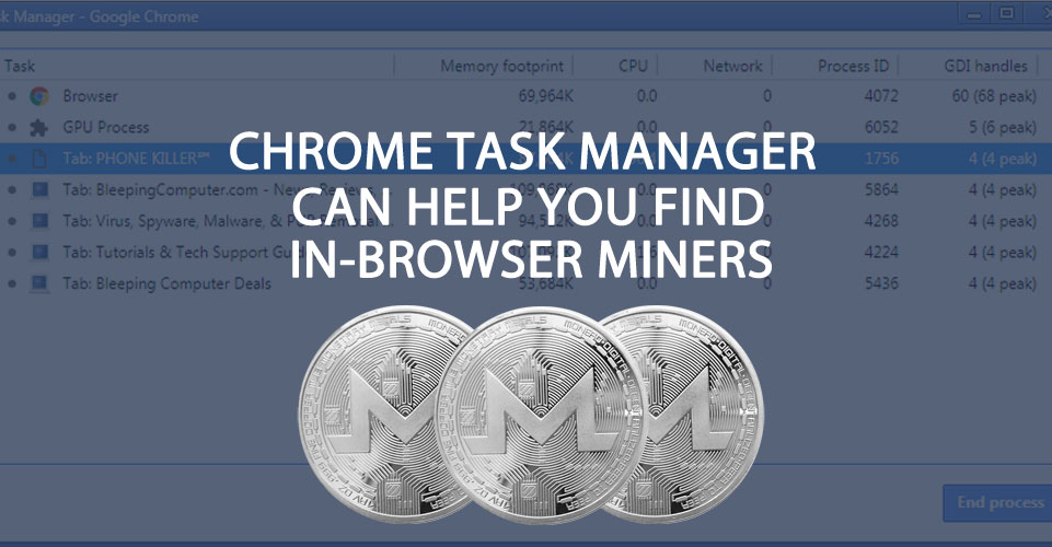 Using the Chrome Task Manager to Find In-Browser Miners