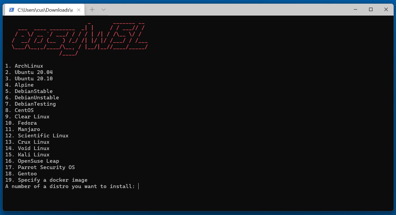EasyWSL program