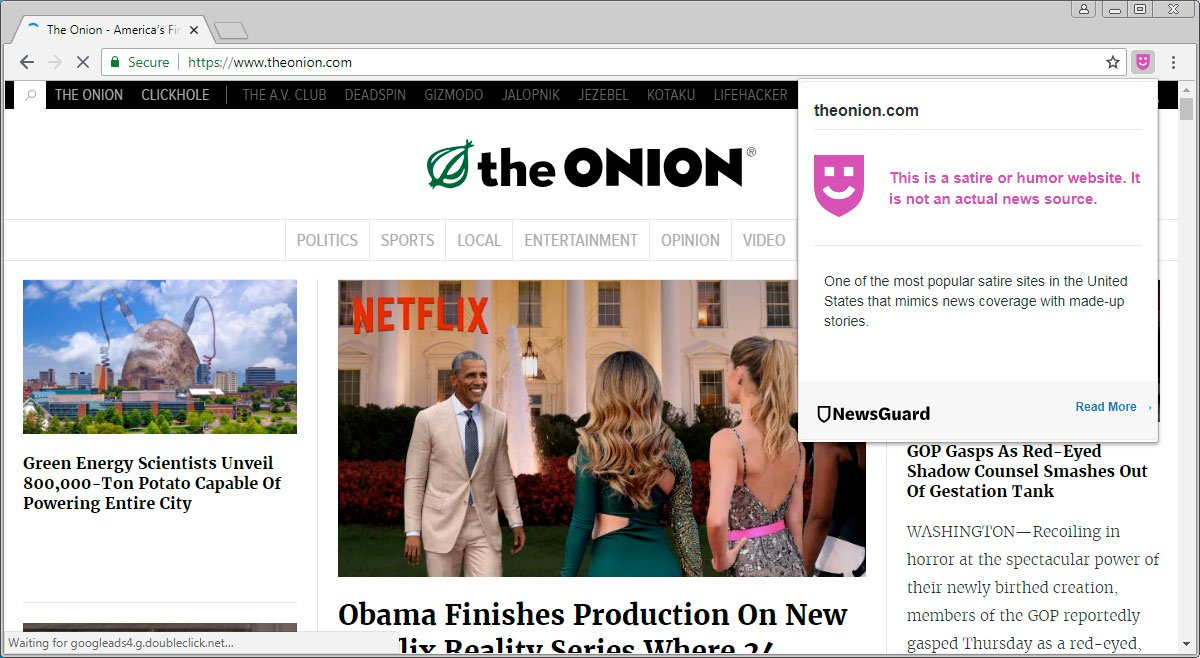 Newsguard Browser Extension Aims To Alert You To Fake News Sites