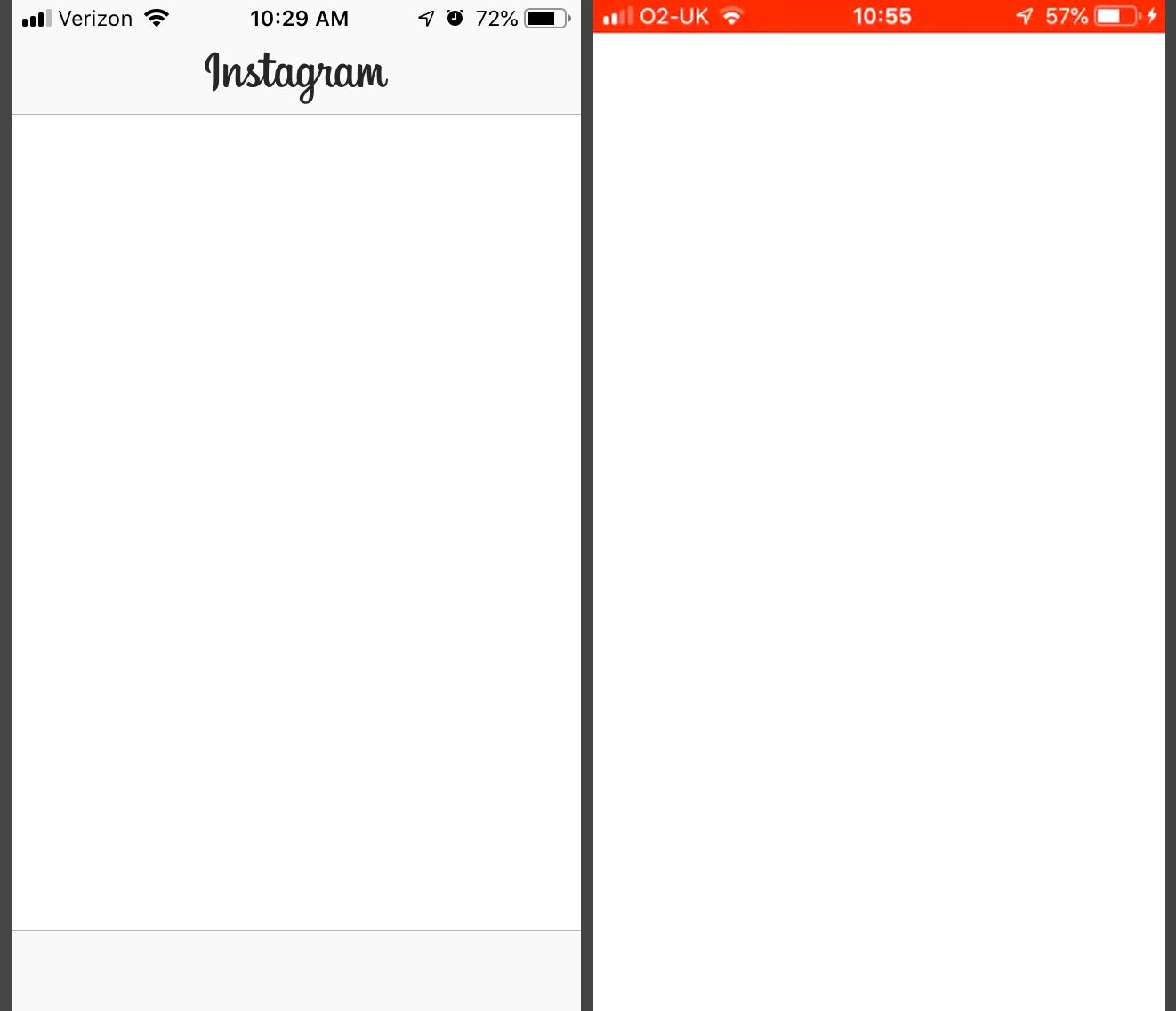 Instagram Only Showing a Blank White Screen for Many Users