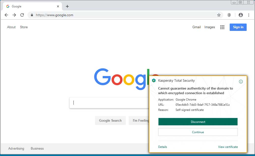 Kaspersky Av Having Certificate Conflicts With Google Chromecast