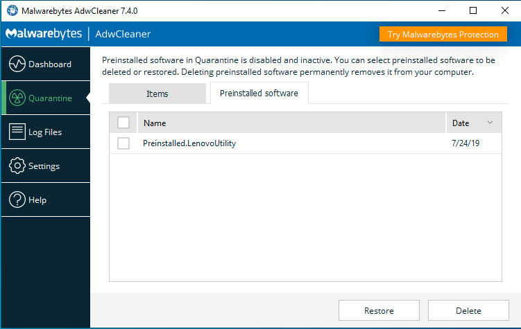 Malwarebytes AdwCleaner 7 4 Can Now Remove Bloatware From