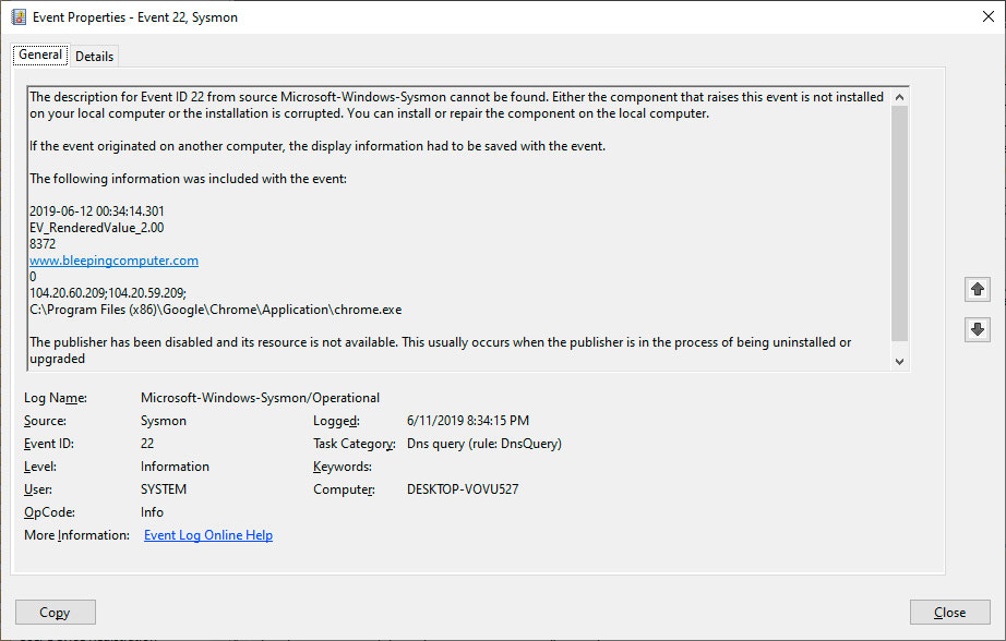 Microsoft Releases Sysmon 10 With DNS Query Logging Feature