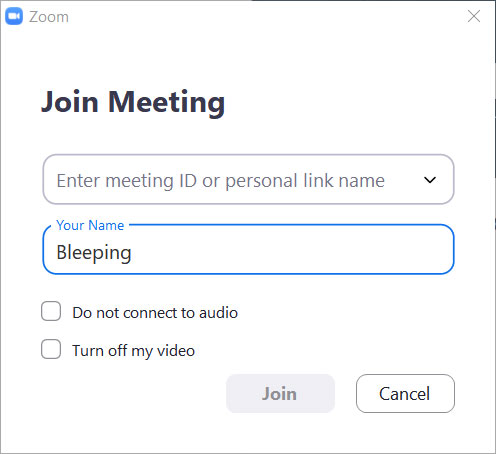 Manually join a meeting by ID