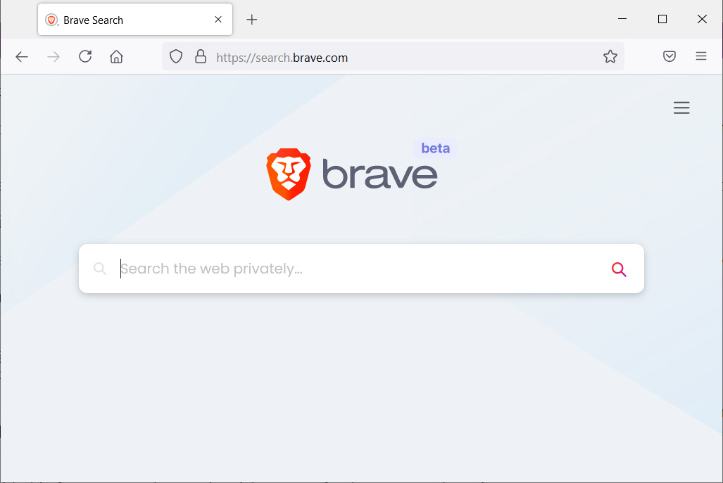 The new Brave Search engine