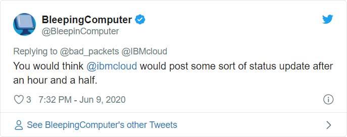 BleepingComputer tweet