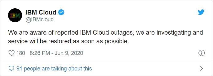 IBM tweet