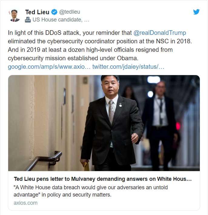 Ted Lieu tweet