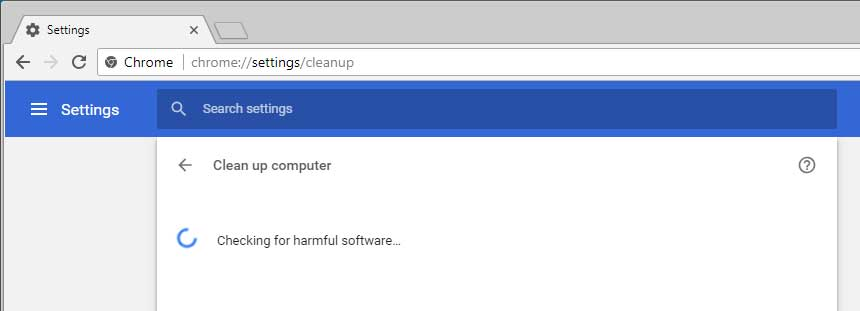 Chrome Checking for Harmful Software