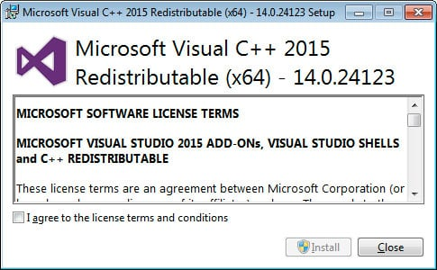 Microsoft Visual C++-2015 Redistributable