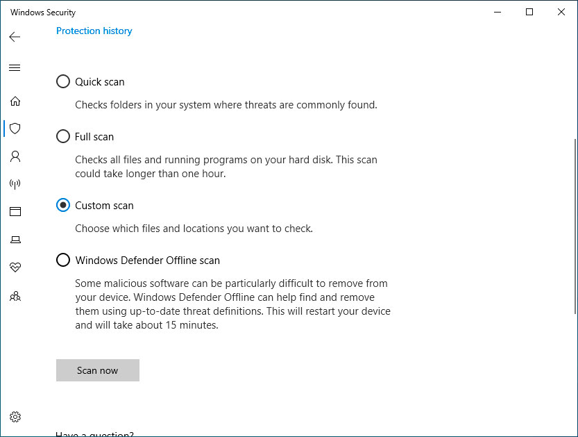 Windows Security About Page