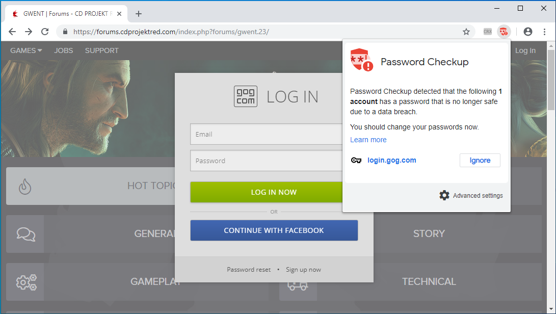 Google Launches Password Checkup Extension to Alert Users of