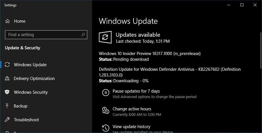 Windows 10 Insider Build 18317 Released and Breaks WSL Again