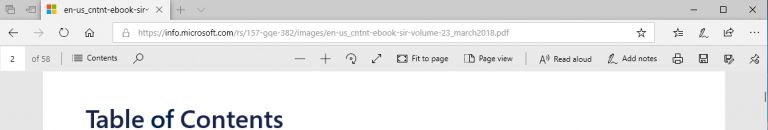 Edge browser toolbar
