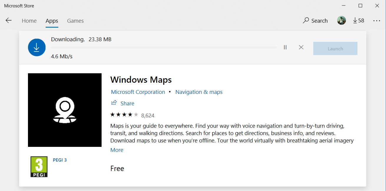 google maps offline navigation windows 10
