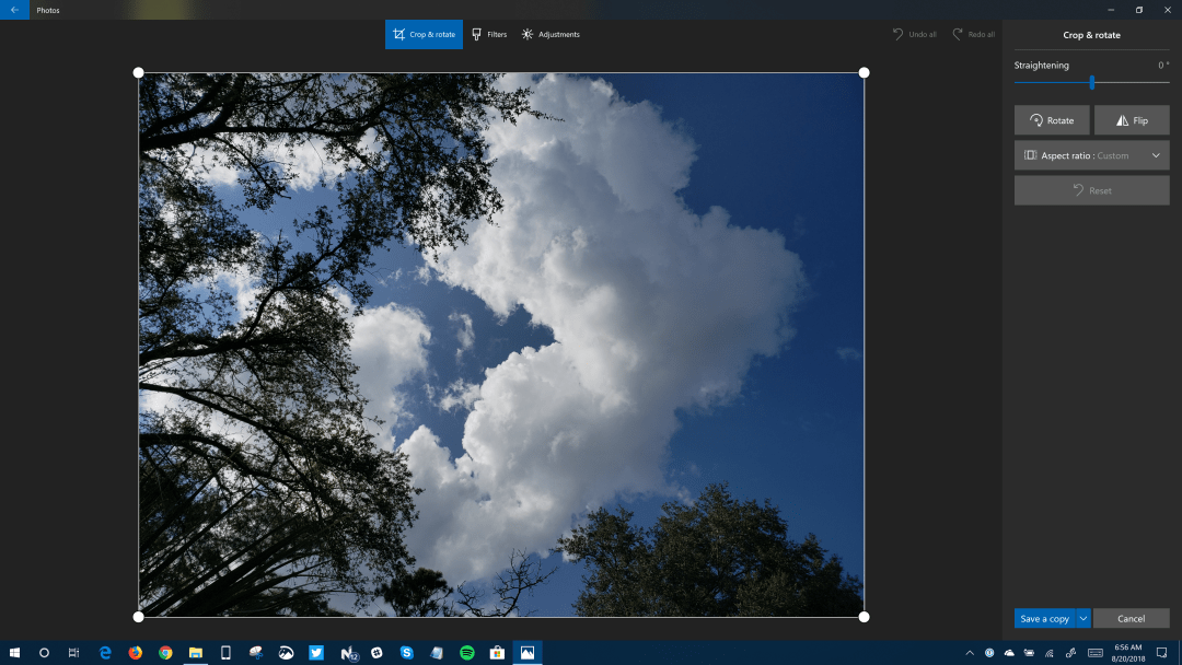 Windows 10 Photos App Gets New Image Editing UI in Fast Ring