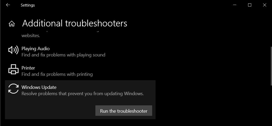 Additional Troubleshoot