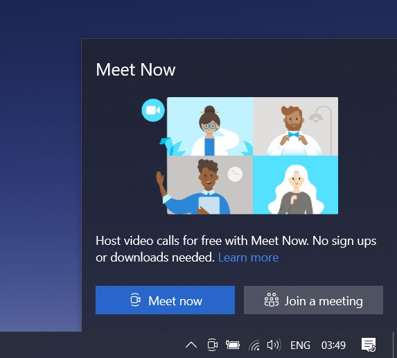 How to Disable Microsoft's New 'Meet Now' Functionality in Windows 10