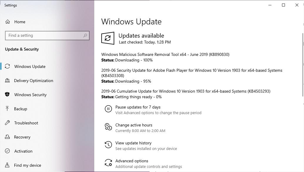 Windows 10 June 2019 Cumulative Updates Released With Fixes