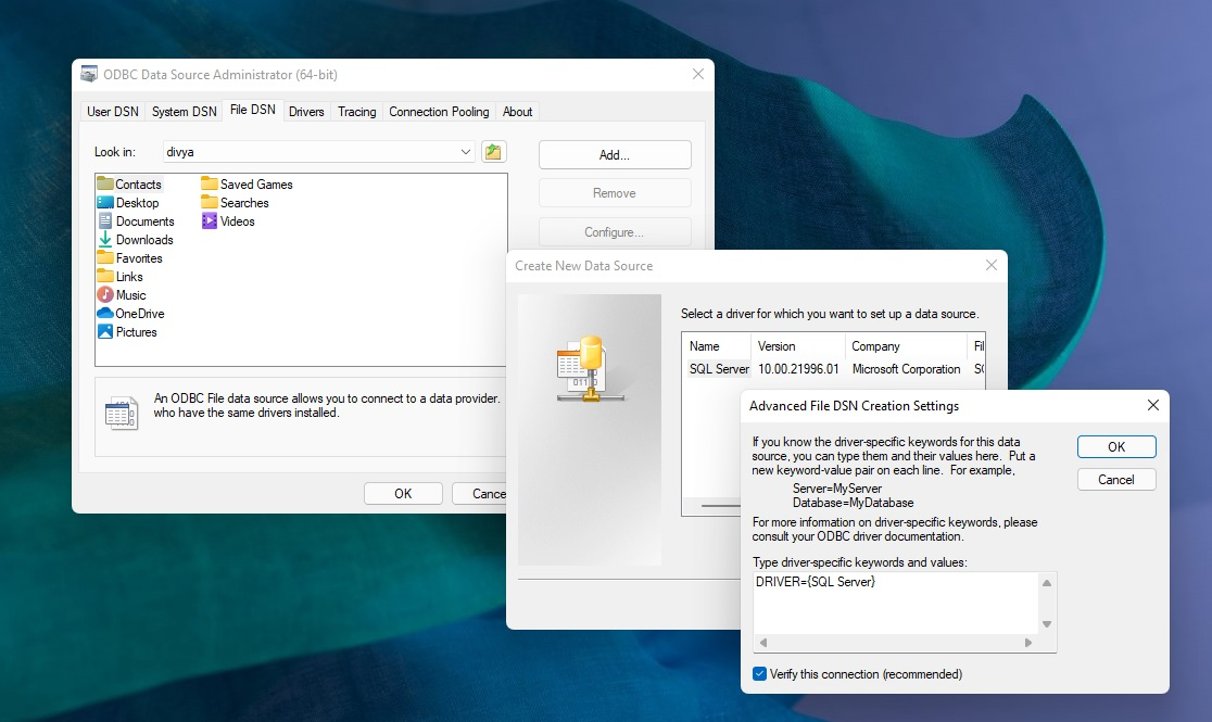 Windows dialog with rounded corners