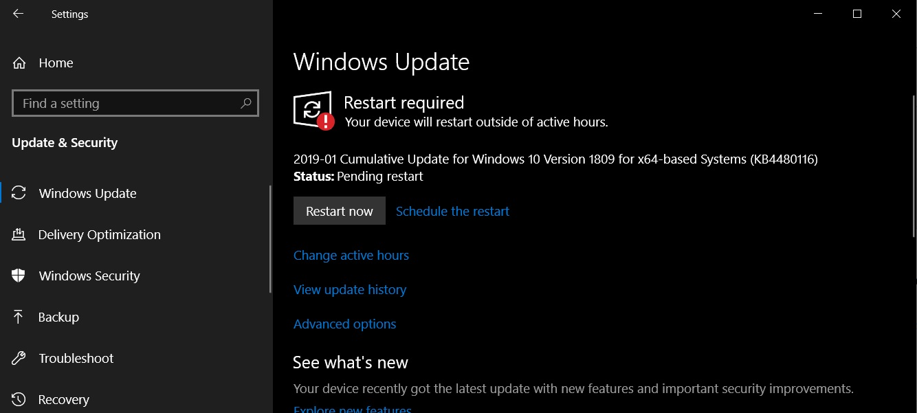 Windows 10 January 2019 Cumulative Updates Released With Fixes