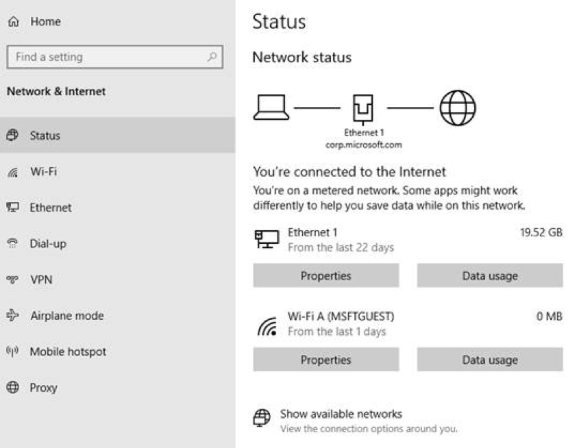 Redesigned network status page
