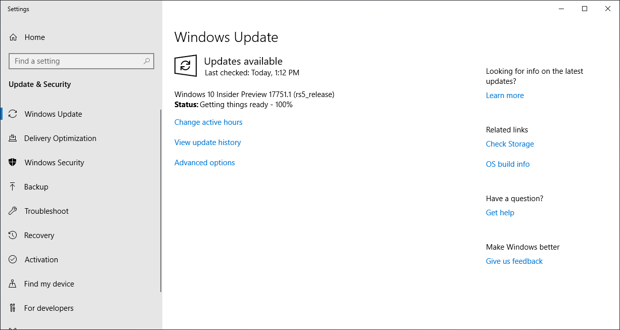 Windows 10 Build 17751 Released to Insiders with Build Watermark Removed