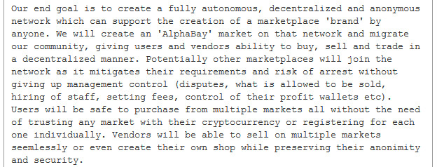 AlphaBay admin DeSnake's vision for a Decentralized Market Network