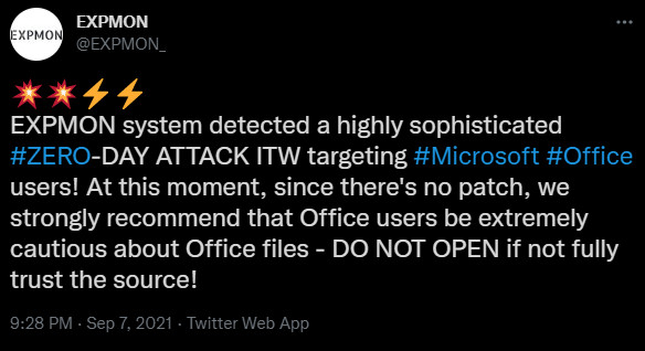 Microsoft shares temp fix for ongoing Office 365 zero-day attacks